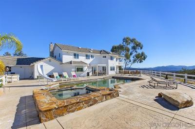 San Diego County Single Family Home For Sale: 19701 Ramona Trails Drive