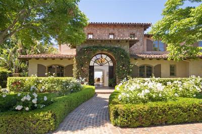Rancho Santa Fe Single Family Home For Sale: 18380 Calle La Serra