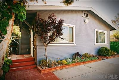San Diego Single Family Home For Sale: 3809 Cherokee Ave