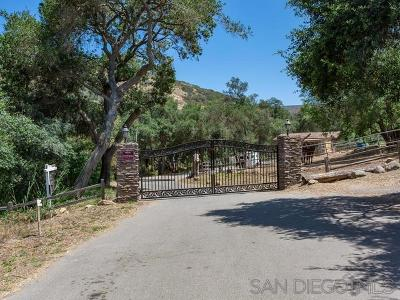 Escondido Residential Lots & Land For Sale: 8960 Mount Israel Road