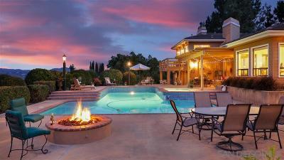 Escondido Single Family Home For Sale: 2723 Rich Lynn Ridge Rd