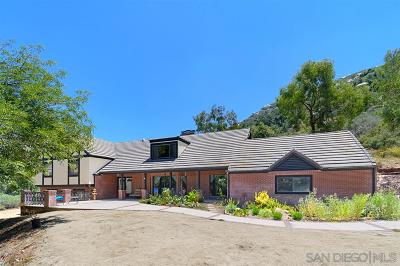 Poway Single Family Home For Sale: 16311 Coyote Creek Trail