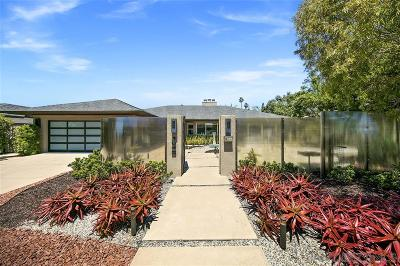 La Jolla Single Family Home For Sale: 1648 Via Corona