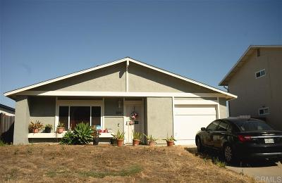 San Diego Single Family Home For Sale: 834 Banneker Dr