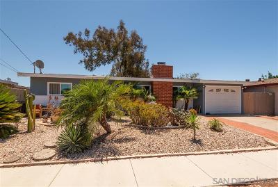 Clairemont Single Family Home For Sale: 5011 Acuna St