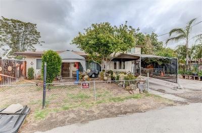 Santee Single Family Home For Sale: 8531 Hubbles Ln.