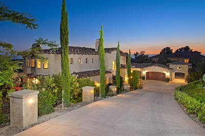 Rancho Santa Fe Single Family Home For Sale: 7258 Camino De Arriba