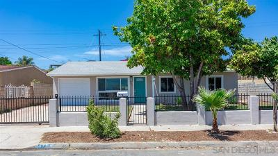 San Diego Single Family Home For Sale: 542 Billow Dr