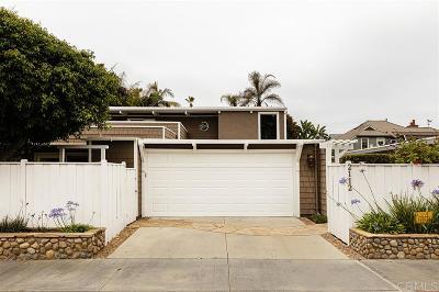 Del Mar Single Family Home For Sale: 2112 Coast