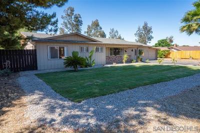 Ramona Single Family Home For Sale: 1555 Ashley Rd