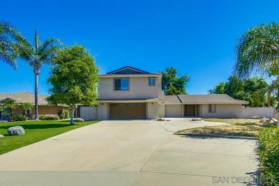 Ramona Single Family Home For Sale: 16144 Hampson Pl