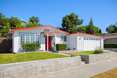 Single Family Home For Sale: 6714 Cowles Mountain Blvd