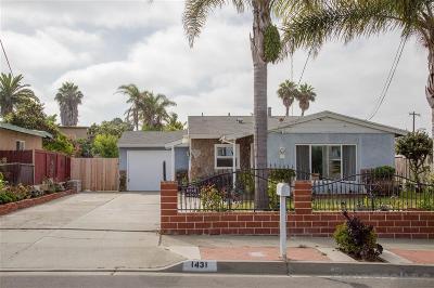 Oceanside Single Family Home For Sale: 1431 Langford