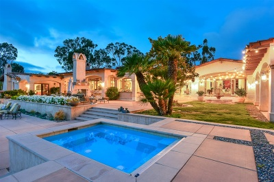 Rancho Santa Fe CA Single Family Home For Sale: $5,488,000