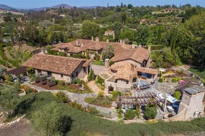 Rancho Santa Fe CA Single Family Home For Sale: $10,995,000