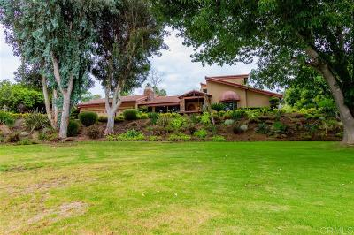 Escondido Single Family Home For Sale: 3119 Quiet Hills Place