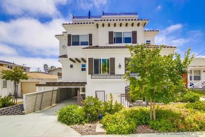 Point Loma Townhouse For Sale: 3129 Keats Street