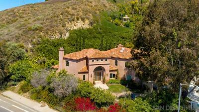 Del Mar Single Family Home For Sale: 14710 Via Del Canon