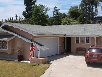 Lemon Grove Single Family Home For Sale: 1736 Costada Ct