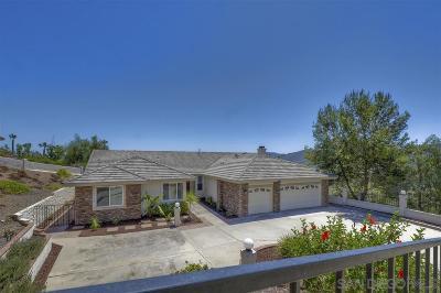 Escondido Single Family Home For Sale: 2051 Ridgecrest Pl