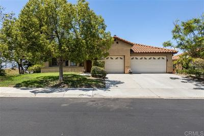 Escondido Single Family Home For Sale: 1059 Inspiration Lane
