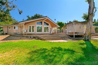 Escondido Single Family Home For Sale: 2948 Ross Ln