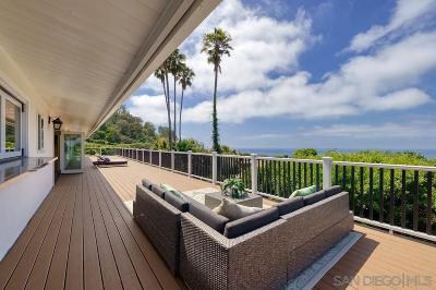 La Jolla Single Family Home For Sale: 7378 Via Capri