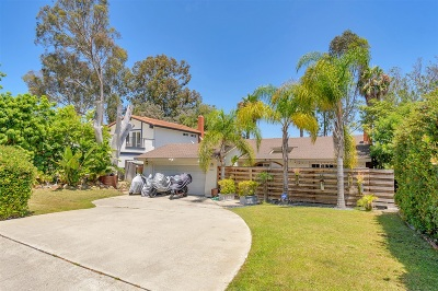 Del Mar Single Family Home For Sale: Portofino Dr