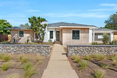 San Diego Single Family Home For Sale: 665 Albion Street