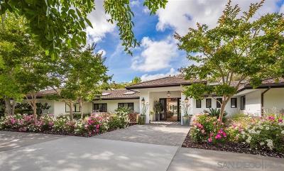 Rancho Santa Fe Single Family Home For Sale: 5050 El Secreto