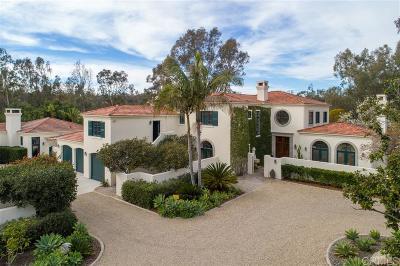 Rancho Santa Fe Single Family Home For Sale: 15656 La Madreselva