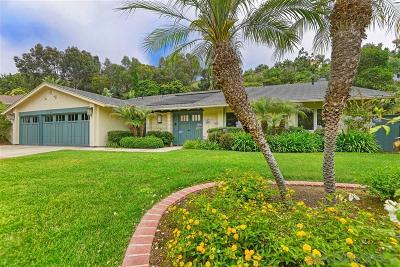 La Jolla Single Family Home For Sale: 6893 Via Valverde