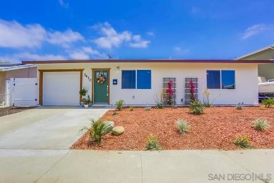 San Diego Single Family Home For Sale: 3410 Idlewild Way