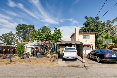 Santee Multi Family 2-4 For Sale: 8531 Hubbles