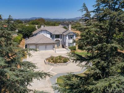 Fallbrook Single Family Home For Sale: 3664 Lake Ridge Rd.