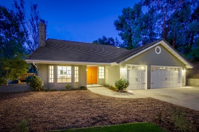 Escondido Single Family Home For Sale: 1338 Scenic Dr