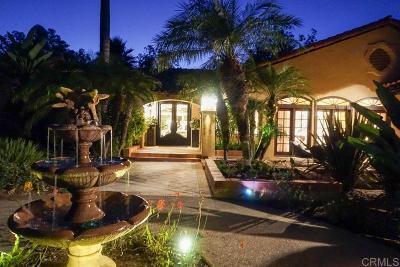 Rancho Santa Fe Single Family Home For Sale: 16775 Via De Los Rosales