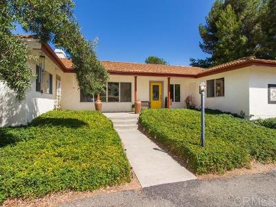 Fallbrook Single Family Home For Sale: 1818 Fuerte St.