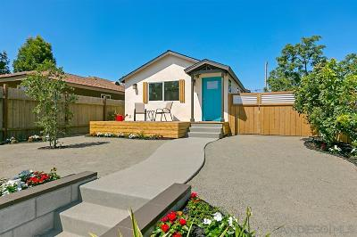 North Park, North Park - San Diego, North Park Bordering South Park, North Park, Kenningston, North Park/City Heights Single Family Home For Sale: 3526 Nile Street