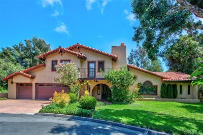 Del Mar Single Family Home For Sale: 4805 Rancho Viejo Dr