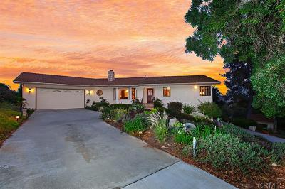 Fallbrook Single Family Home For Sale: 4175 Linda Vista Dr