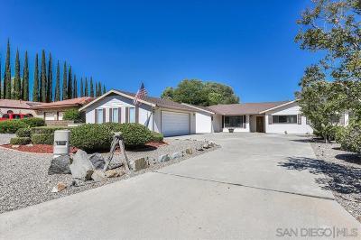 Ramona Single Family Home For Sale: 16235 Spangler Peak Road