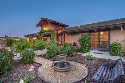Bonsall Single Family Home For Sale: 6457 Camino Del Rey