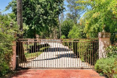 Escondido CA Single Family Home For Sale: $998,000