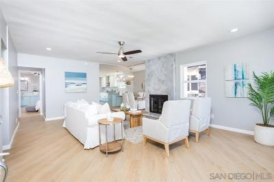 Pacific Beach Single Family Home For Sale: 1512 Law St.