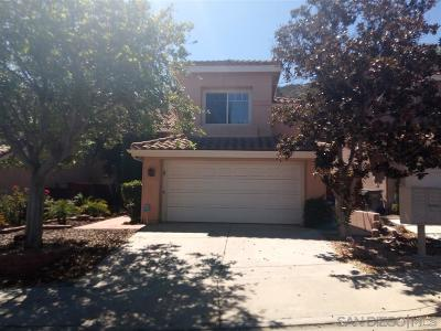 Escondido Single Family Home For Sale: 2183 Valley Rim Glen