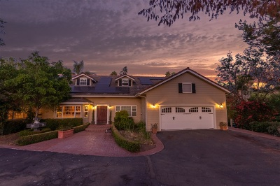 Escondido Single Family Home For Sale: 1826 Skyline Drive