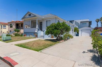 San Diego Single Family Home For Sale: 3020 Byron Street