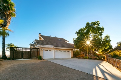 Poway Single Family Home For Sale: 14648 Sunrise Canyon Rd