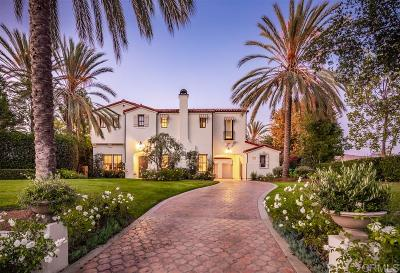 San Diego CA Single Family Home For Sale: $3,195,000